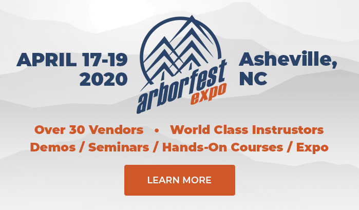 Registration is NOW OPEN for ArborFest EXPO 2020!