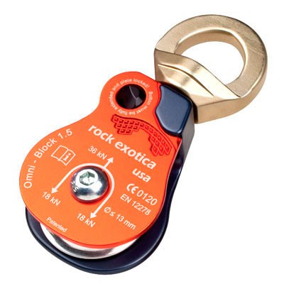 Rock Exotica Omni Block 1.5 Single Block. Works with up to 13mm Rope